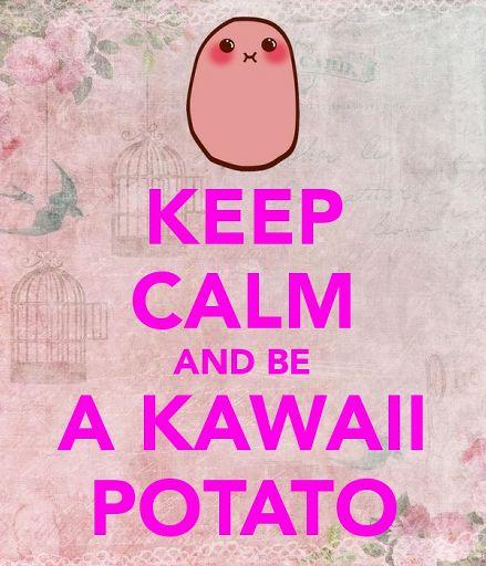kawaii potato says no