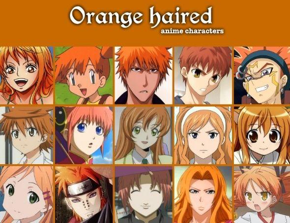 Anime hair color chart