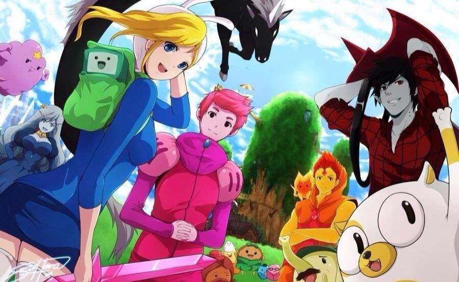 cartoon versus anime Hi, i have a new video:adventure time characters as anime - cartoons vs anime  here are all characters of adventure time in anime version  cartoon or anim.
