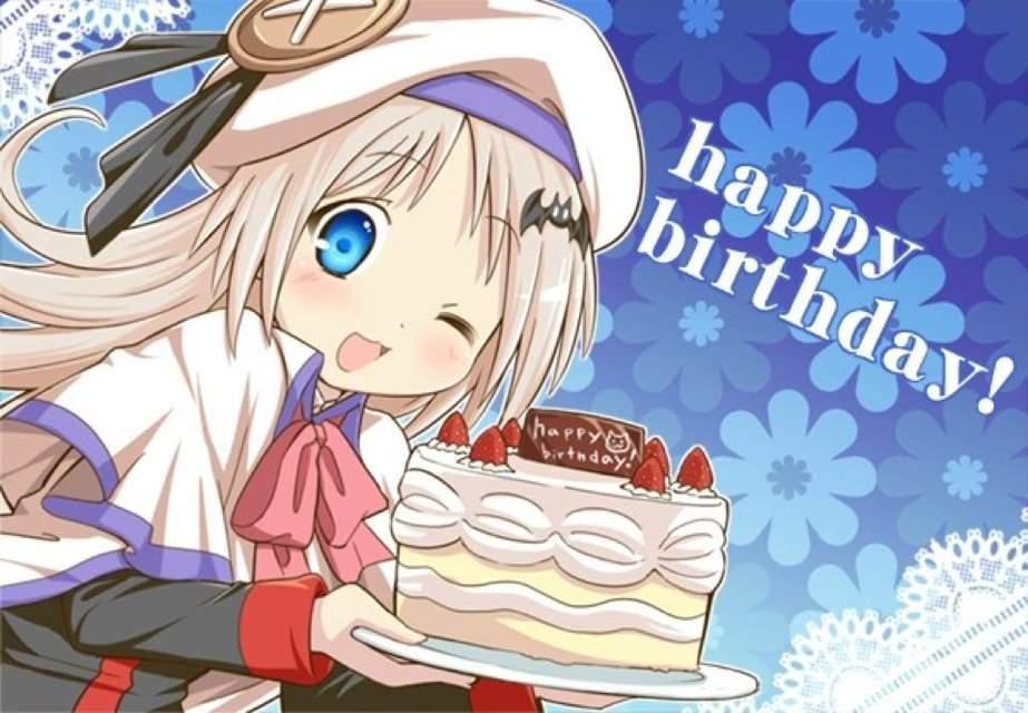 Поздравление с днём рождения в аниме стиле 74
