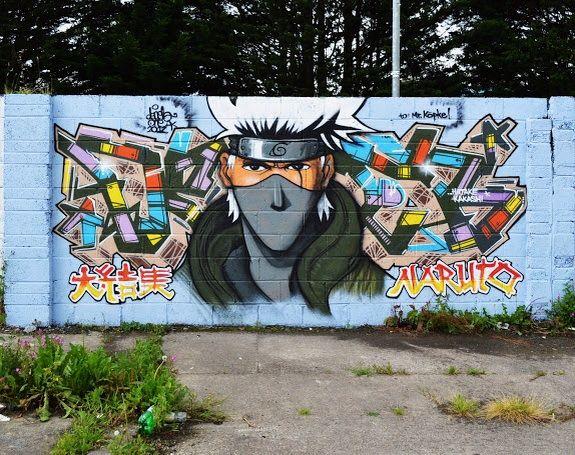Фотки граффити в аниме