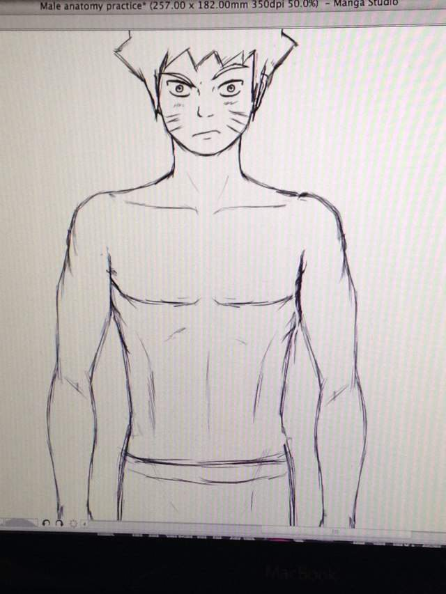 Naruto being a guinea pig to my male anatomu practice | Anime Amino