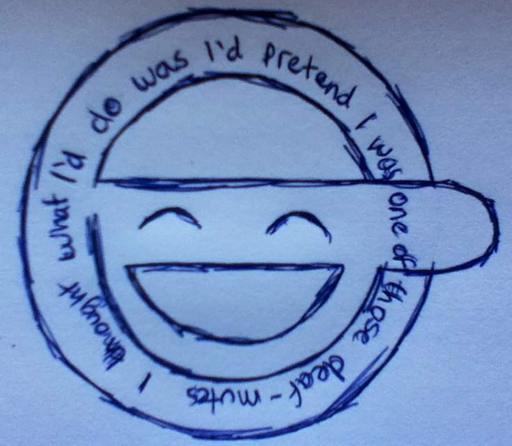 Just A Quick Graffiti Like Sketch Of The Laughing Man Logo Click On Link To My Artwork See More