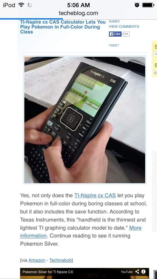 Pokemon on Calculators?!   Video Games Amino
