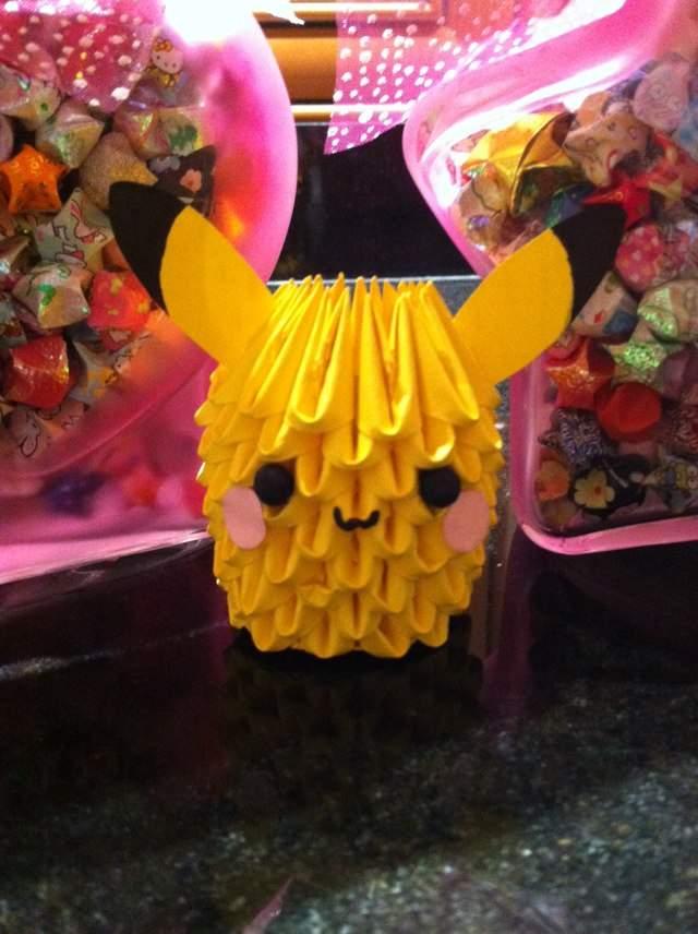 How To Make 3D Origami Pikachu Pokemon | DIY Paper Picachu Pokemon ... | 856x640