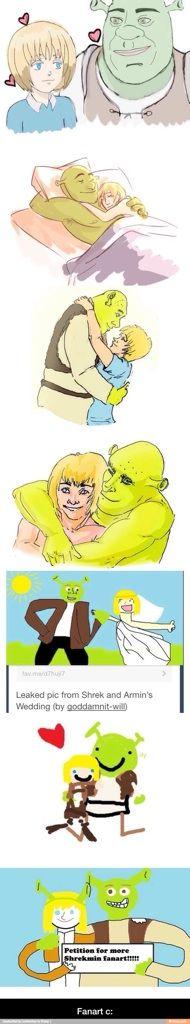 Shrek X Armin Fanart Anime Amino